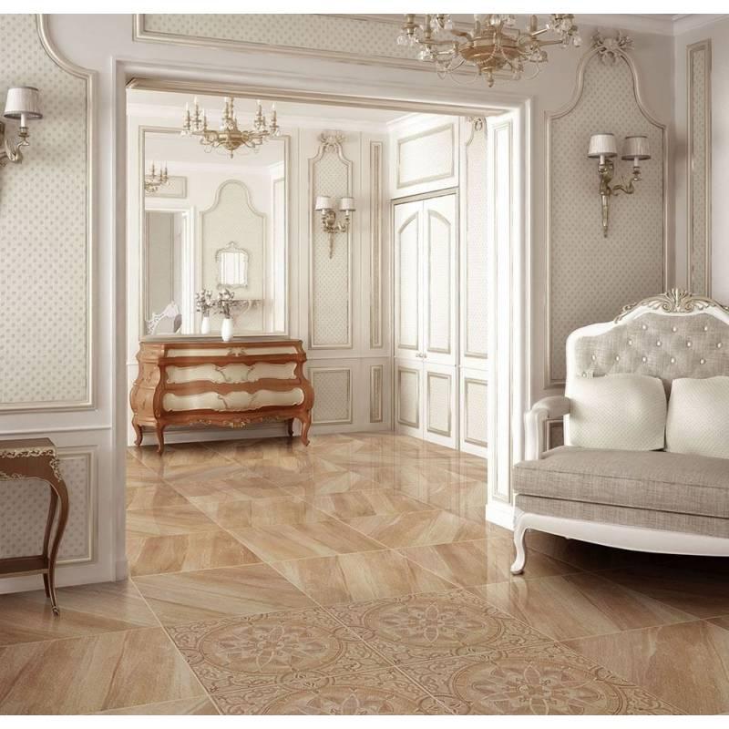 Carrelage luxe marbre beige flandes 60x60cm rectifié semi-poli