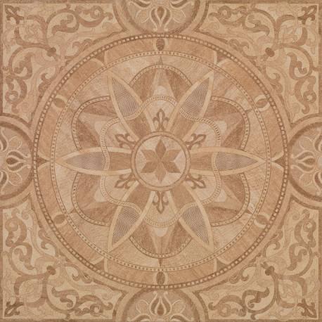 Carrelage luxe marbre beige motifs flandes 60x60cm rectifié semi-poli