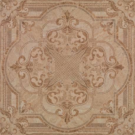 Carrelage carré ornement beige tivoli 60x60cm rectifié semi-poli
