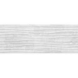 Plaster Wave Grey Rectifié 25X70