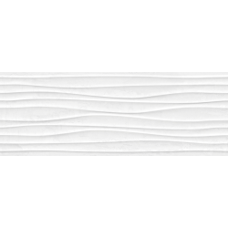 Plaster Wave White Rectifié 25X70