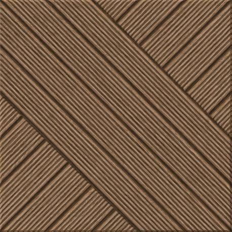 Carrelage deck carré marron quebec 31.6x31.6cm
