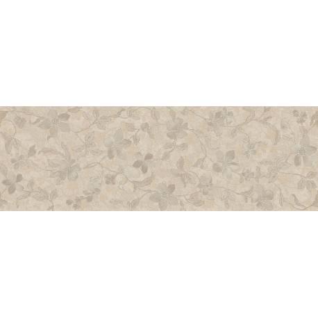 Faïence allongée beige à motifs floraux microcemento 30x90cm rectifié mat