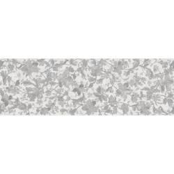 Faïence allongée grise à motifs floraux microcemento 30x90cm rectifié mat
