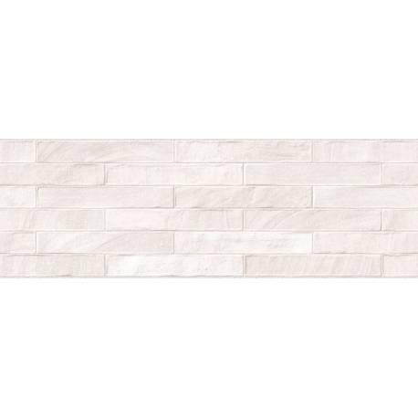 Faïence brick blanc brick 25x75cm rectifié brillant