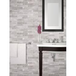 Faïence brick gris brick 25x75cm rectifié brillant