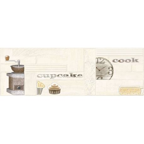 Faïence déco cuisine beige brick 25x75cm rectifié brillant