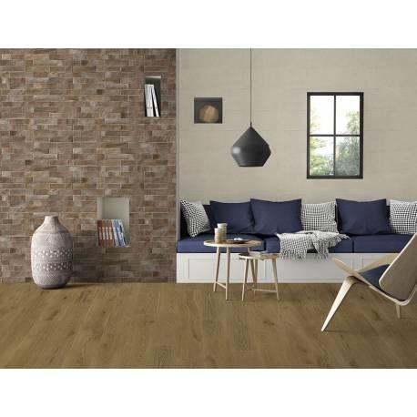 Faïence briques marrons zamora 25x75cm rectifié brillant