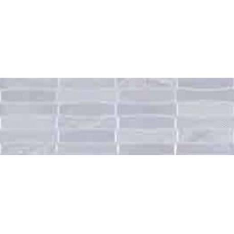Faïence salle de bain XL blanc motifs teide 25x75cm brillant