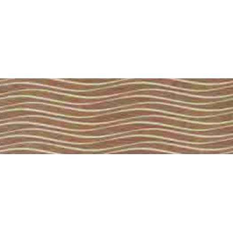 Faïence salle de bain vagues marron narbona 25x75cm satiné