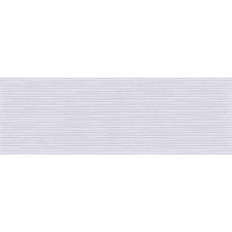 Faïence douch tradi strié blanc style 20X60cm brillant