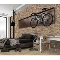 Faïence briques marrons baikal 19X57cm mat