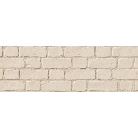Faïence aspect briques beiges microcemento 30x90cm rectifié mat