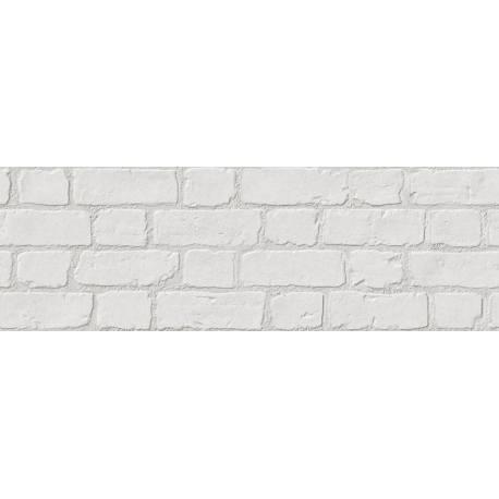 Faïence aspect briques blanches microcemento 30x90cm rectifié mat