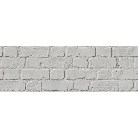 Faïence aspect briques grises microcemento 30x90cm rectifié mat