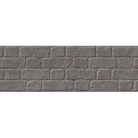 Faïence aspect briques noires microcemento 30x90cm rectifié mat