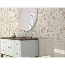 Faïence déco fleurs beiges menorca 30x90cm rectifié brillant