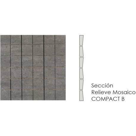 Compact Mosaico Grafito B 30x30