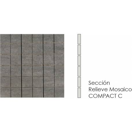 Compact Mosaico Grafito C 30x30