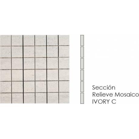 Compact Mosaico Ivory C 30x30