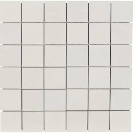 Zement Mosaico Blanco mat 30x30 rectifié