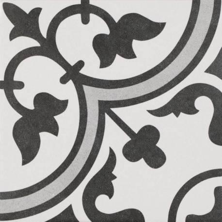 Carrelage Inspiration Carreau Ciment Noir Blanc Et Gris Avec Rosace