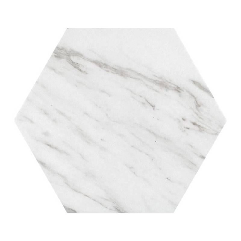 Carrelage Marbre Blanc De Forme Hexagonale Codicer Carrara Hex - Carrelage hexagonal blanc