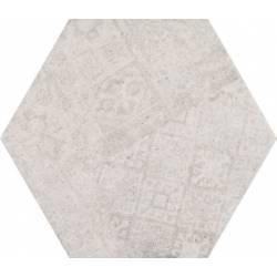 Concrete White Decor Hex 25 25x22