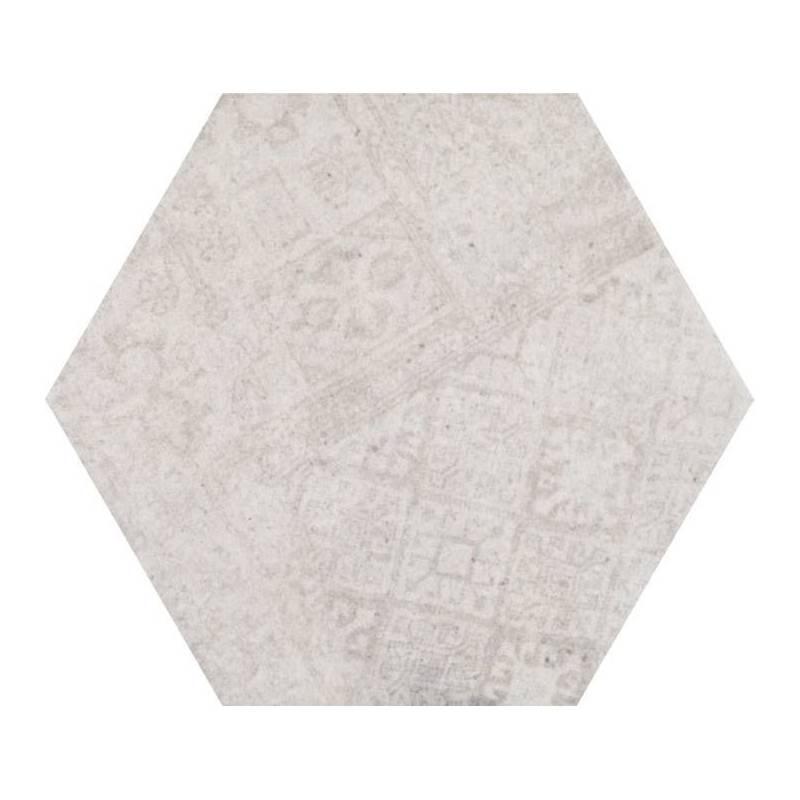 carrelage hexagonal tons gris beiges codicer 95 concrete white decor hex 25 25x22cm. Black Bedroom Furniture Sets. Home Design Ideas