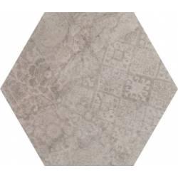 Concrete Moka Decor Hex 25 25x22