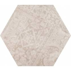 Concrete Almond Decor Hex 25 25x22