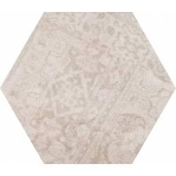 Concrete Almond Decor Hex 25 25x22
