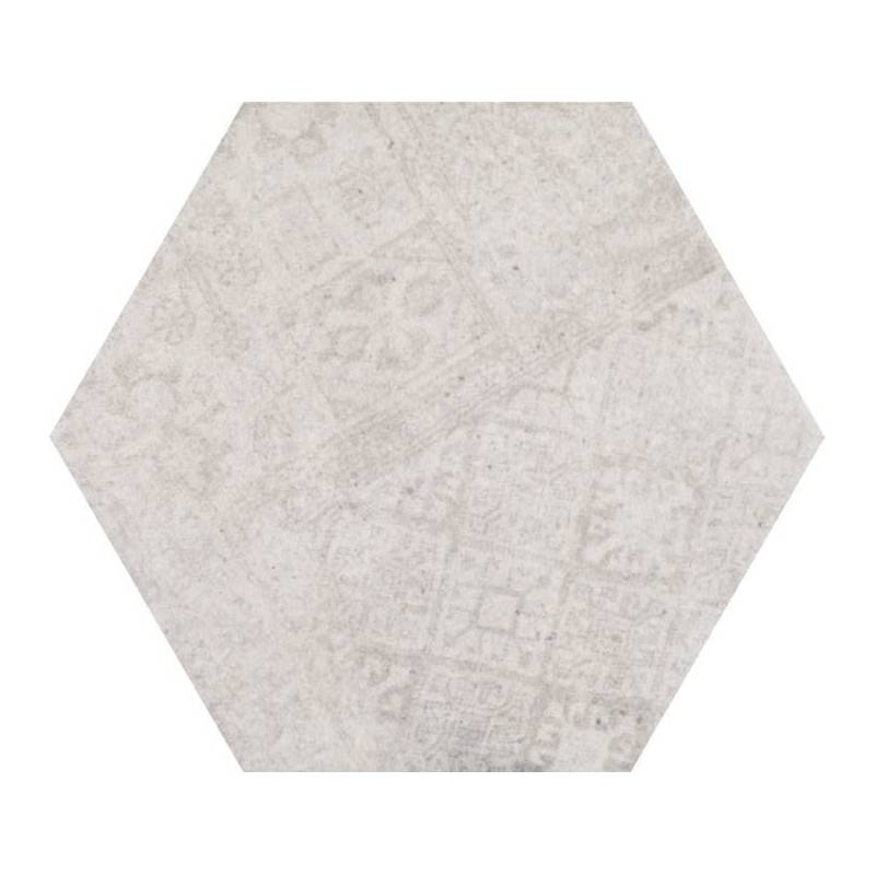 carrelage hexagonal tons gris beiges codicer 95 concrete urban white hex 25 25x22cm. Black Bedroom Furniture Sets. Home Design Ideas