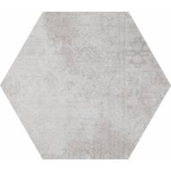 Concrete White Hex 25 Decor 25x22