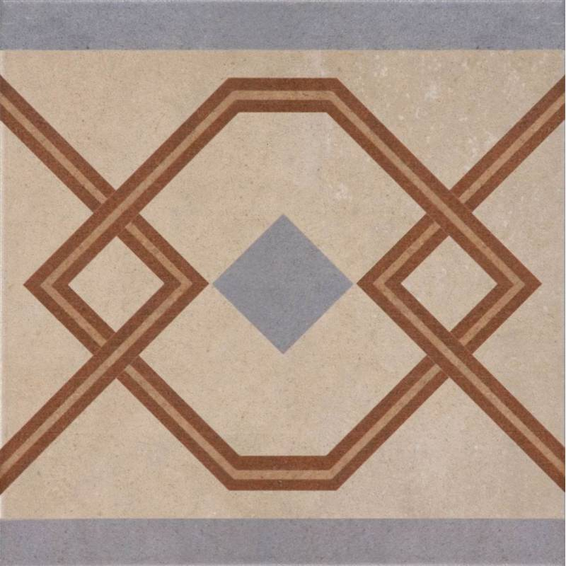 Carrelage aspect carreau ciment r tro d co motifs for Carrelage 25x25