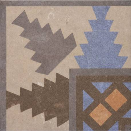 carrelage aspect carreau ciment r tro d co motifs g om triques bleu orange marron codicer 95. Black Bedroom Furniture Sets. Home Design Ideas