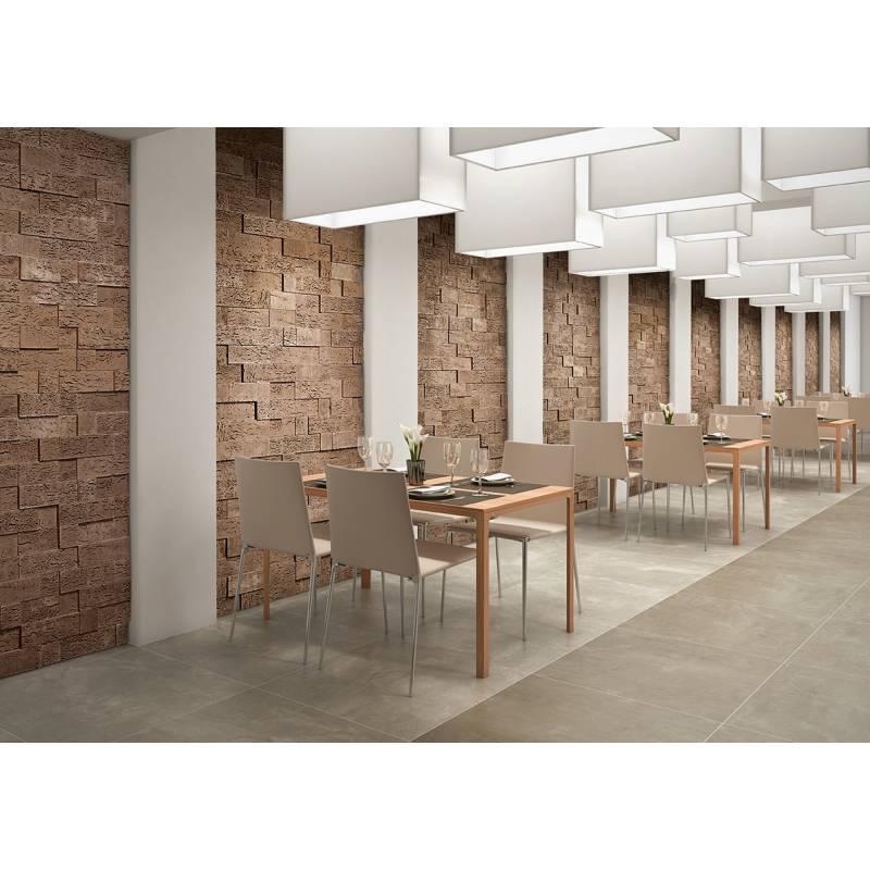 Parement mural stone cork mod 860 100x100 mm sc35 en for Carrelage 100x100 exterieur