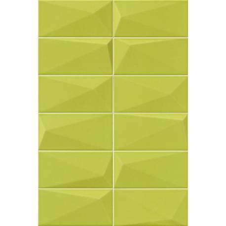 Fa ence diamond y green for Carrelage exterieur 10x20